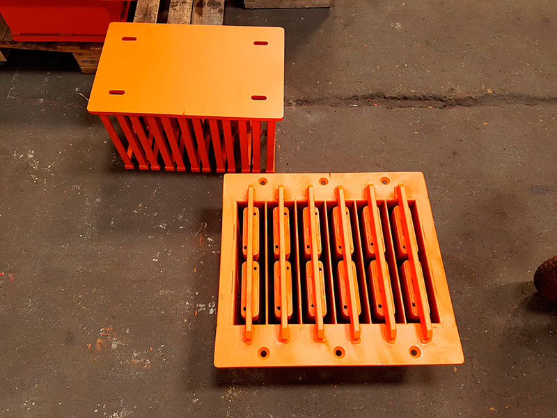 Forma para fabricar bloco de concreto