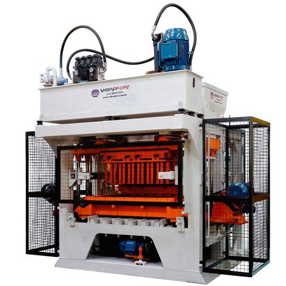 Máquina para fabricação de blocos e pisos de concreto