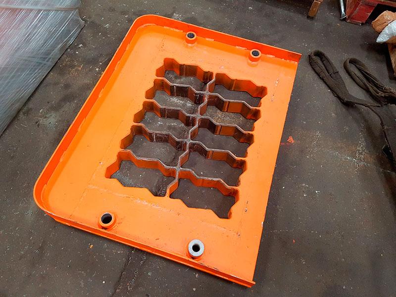 Mesa vibratória para pisos pavers e blocos de concreto