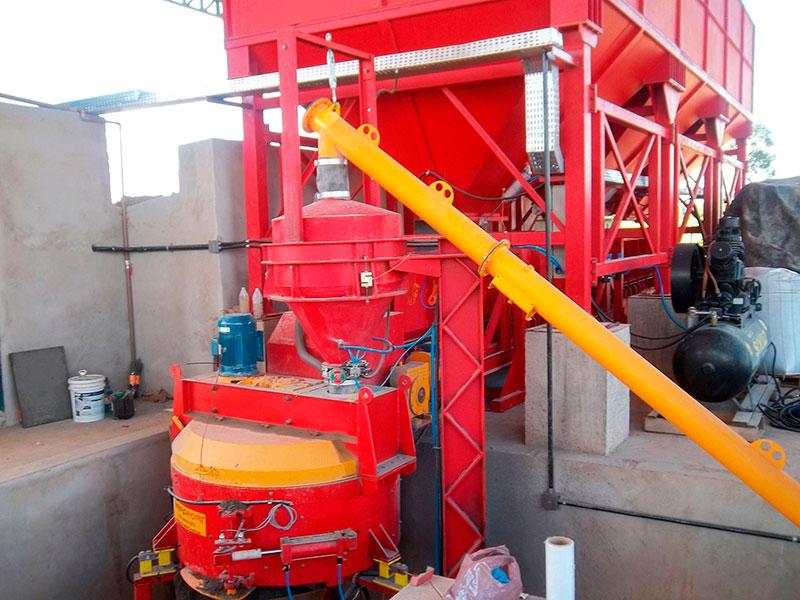 Misturador de massa de concreto