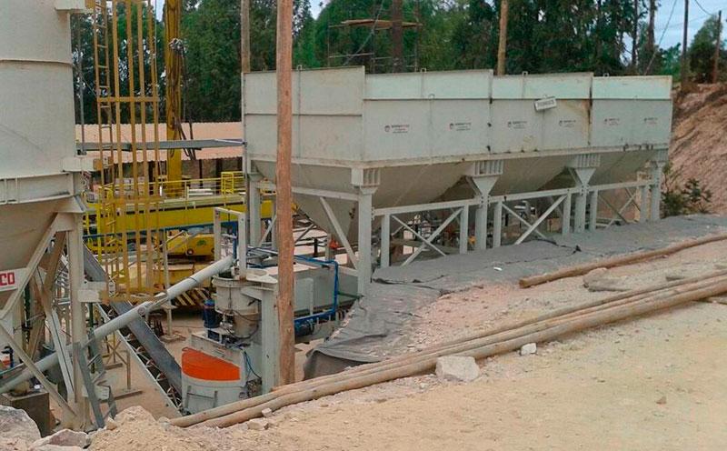 Silo para agregados de concreto